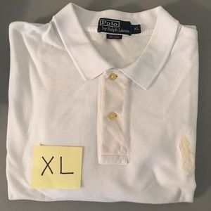 Men's Polo Ralph Lauren White Shirt w/LRG Logo XL